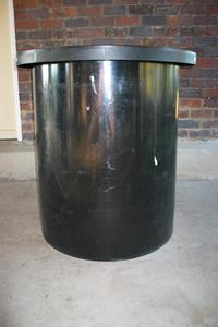 open chemical storage tank