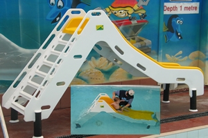 custom fabricated water slide